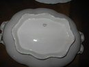 Haviland Limoges oval covered vegetable dish, White Ranson