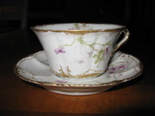 Haviland Limoges Tea cup and saucer, Sch 148B
