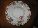 Haviland Limoges dinner plate, large roses