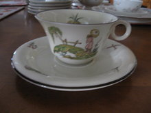 Haviland Limoges Teacup and Saucer, Pillement pattern