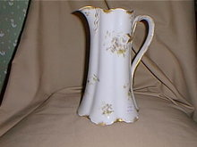 Haviland Limoges Lemonade Pitcher, violets