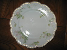 Haviland Limoges Luncheon Plate, Sch 261G, Pink & Green