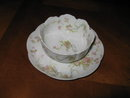 Haviland Limoges Ramekin Cup & Saucer, Princess variation, Sch 57B