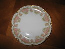 Haviland Limoges Luncheon Plate, Sch 252, white roses