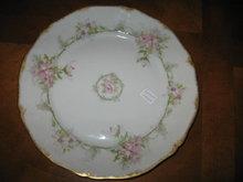 Haviland Limoges Salad plate, Sch 1067, large pink roses
