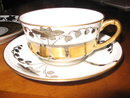 Haviland Limoges Coffee Cup & Saucer & Dessert plate, Stouffer HP, Lily of the Valley