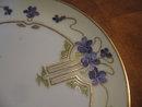 Haviland Limoges  Dessert plate, Stouffer HP, violets