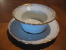 Haviland Limoges  ramekin cup & saucer, Sch 133