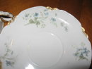 Haviland Limoges coffee cup & saucer, blue violets