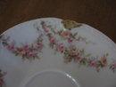 Haviland Limoges Demitasse Cup & Saucer,  pink roses, Sch 145