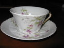 Haviland Limoges Teacup and saucer, Sch 148A violets
