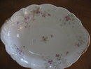 Haviland Limoges , Open oval vegetable bowl, Sch 148A violets