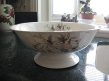 Large Haviland Limoges pedestal salad bowl 1870s