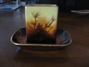 Haviland Limoges Match Box Holder, hand painted