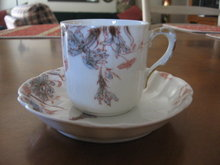 Haviland Limoges Demitasse Cup and Saucer, Old Carnation