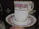 Haviland Limoges Chocolate set with pink roses