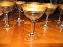 Fostoria Regent set of 9 champagne glasses