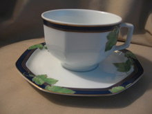 Haviland Limoges Coffee cup & saucer, Jardin D'Hiver