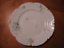 Haviland Limoges Salad Plate with Blue Violets