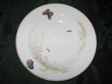 Haviland Limoges Rimmed Soup, Meadow Visitors