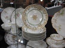 Haviland Limoges Fancy Dessert Plate, lots of gold