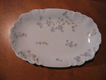 Haviland Limoges Relish dish, blue flowers