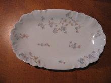 Haviland Limoges Relish dish, blue flowers