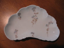 Haviland Limoges Bone dish, blue flowers