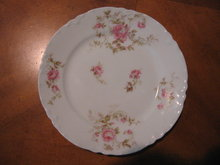 Haviland Limoges Bread & Butter Plate, pink roses