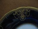 Haviland China Set of 10 Cobalt & Gold Salad plates
