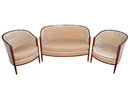 Paul Follot Art Deco Living Room Suite Loveseat & Chairs