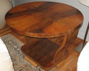 Art Deco Period Figured Walnut Bentwood Side Table