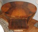 Art Deco Period Figured Walnut Bentwood Side Table