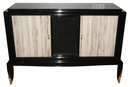 Jean Pascaud Black Lacquered Art Deco Sideboard Buffet