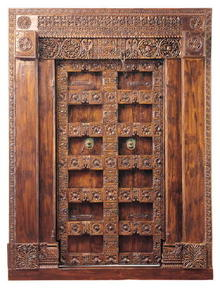 Gujarat Hand-Carved Indian Teak Door Frame