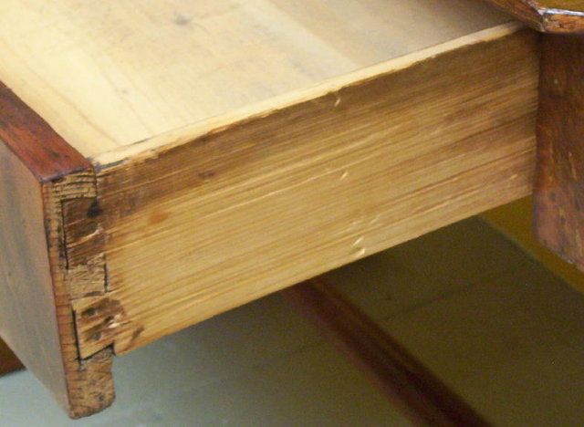 Antique German Biedermeier Period Walnut Desk