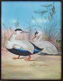 2 Frederick Rhead Painted Porcelain Plaques