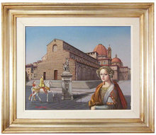 TITO SALOMONI Surrealist Framed Painting