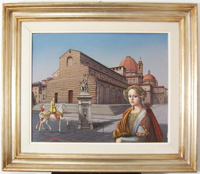 TITO SALOMONI Surrealist Framed Painting