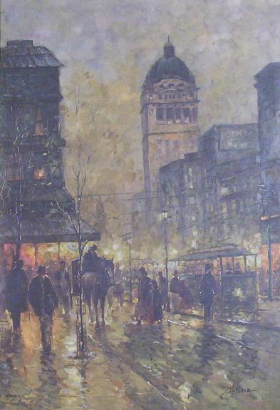 c1920 COLLINS Vienna Cityscape