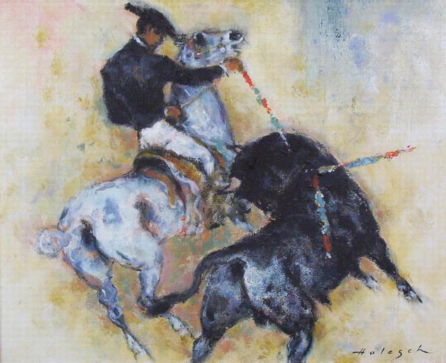 HOLESCH Picador Bullfighter Oil Painting