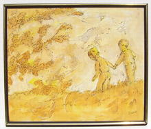 HUMBLOT Signed Oil Children's Painting