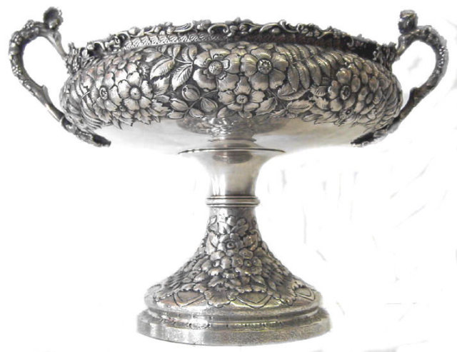 c1875 Tiffany Repousse Sterling Centerpiece