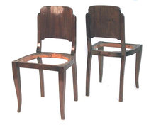Set 6 Art Deco Mahogany Dining Chairs