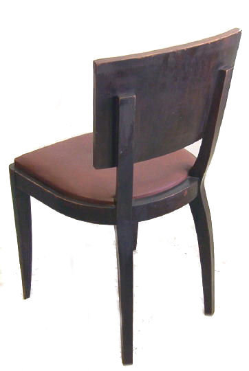 Set 6 French Art Deco Walnut Dining Chairs
