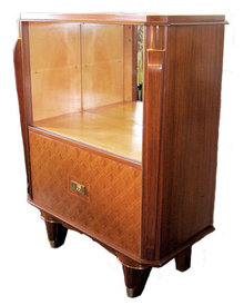Jules Leleu French Art Deco Liquor Bar Cabinet Vitrine