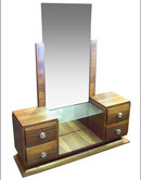 French Art Deco Vanity & Dressing Mirror