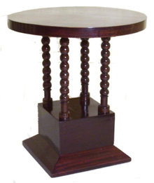 Art Deco Mahogany Pedestal Side Table