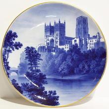 1877 MINTON Durham Cathedral Ceramic Plate