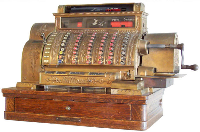 c1912 Spanish National Cash Register